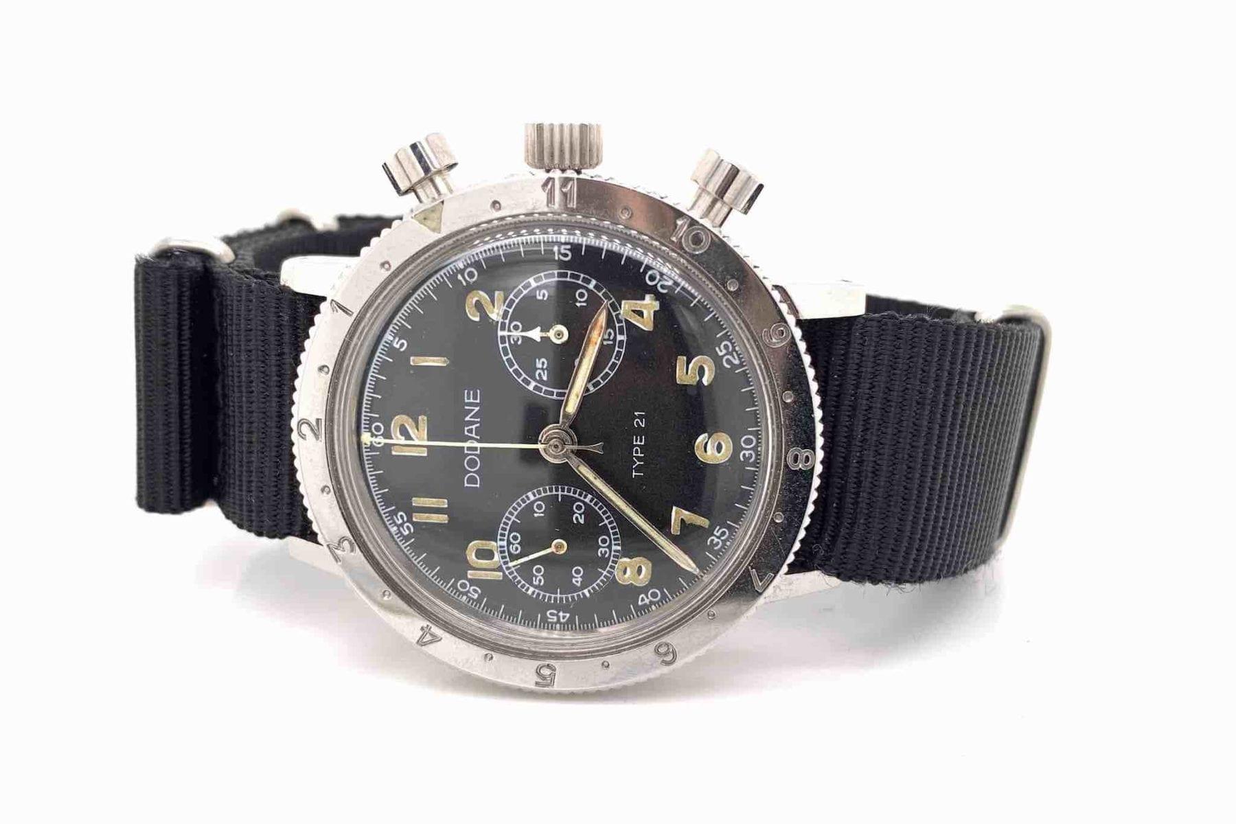 montre militaire Dodane type 21 des années 1950