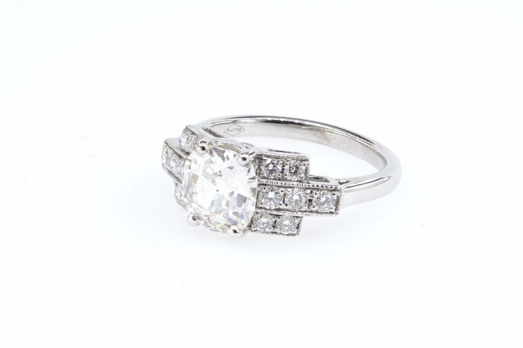 Bague diamant en or blanc 18k