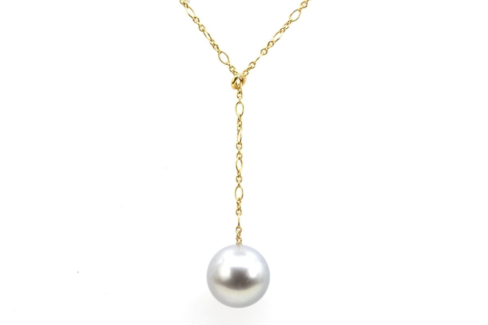 Collier or 18k et perles