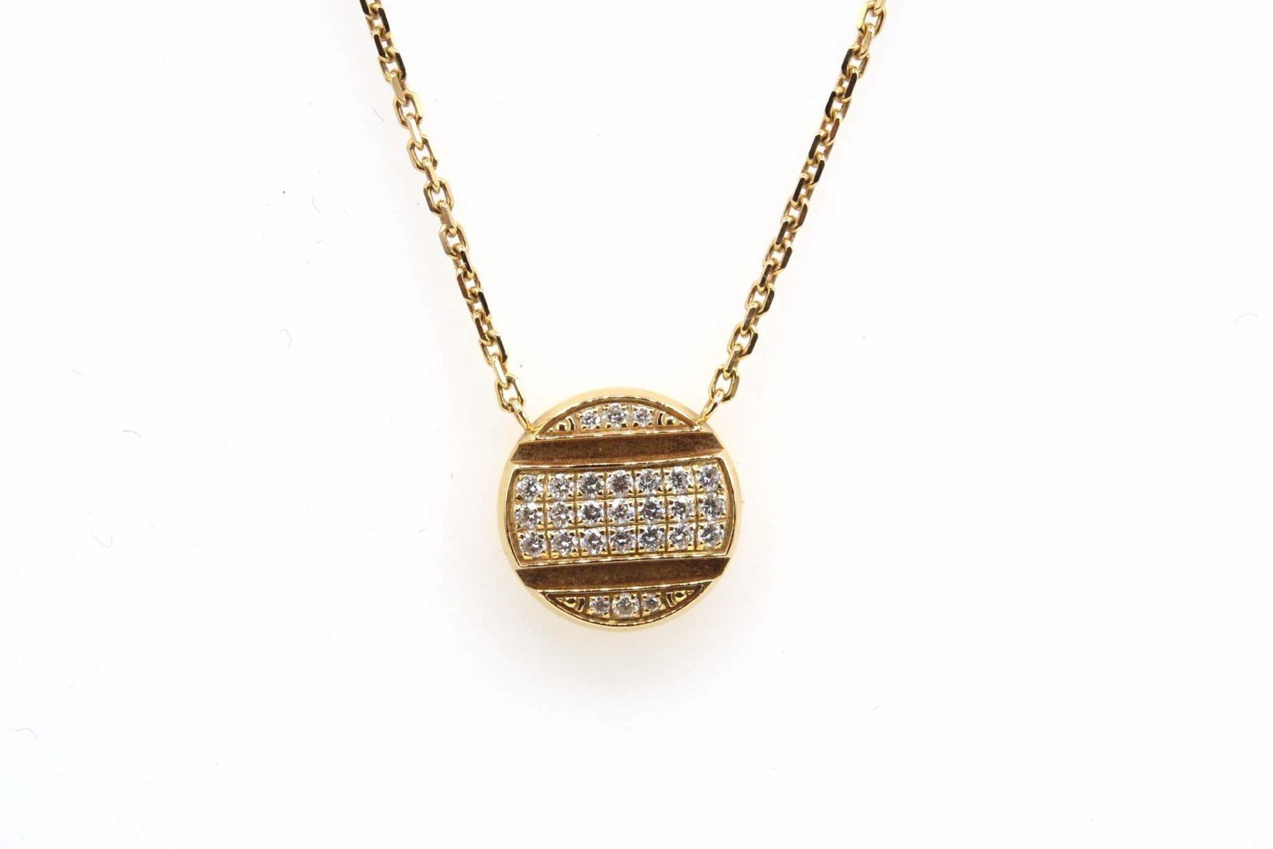 collier or 18k et diamants