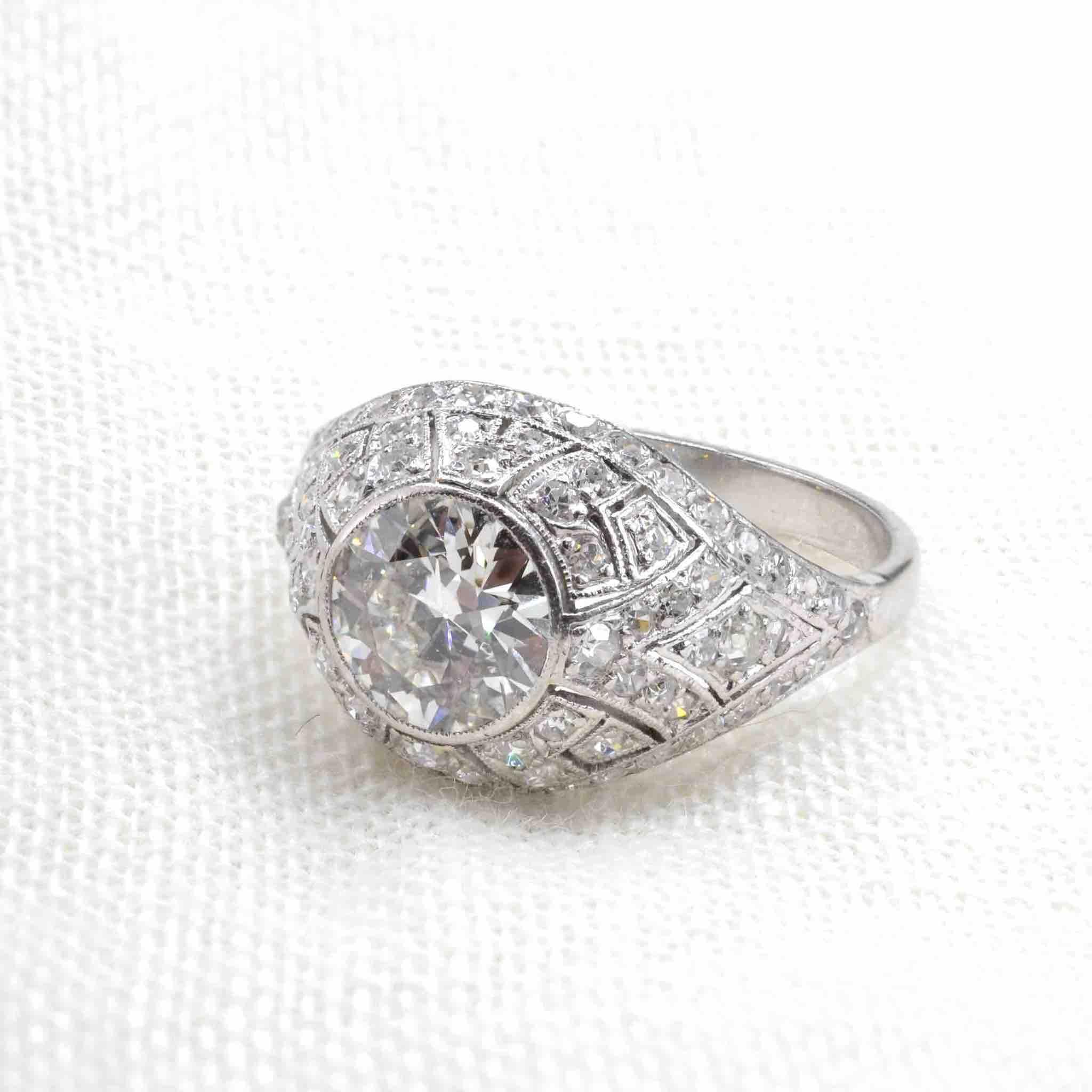 expertise bague ancienne dôme diamants