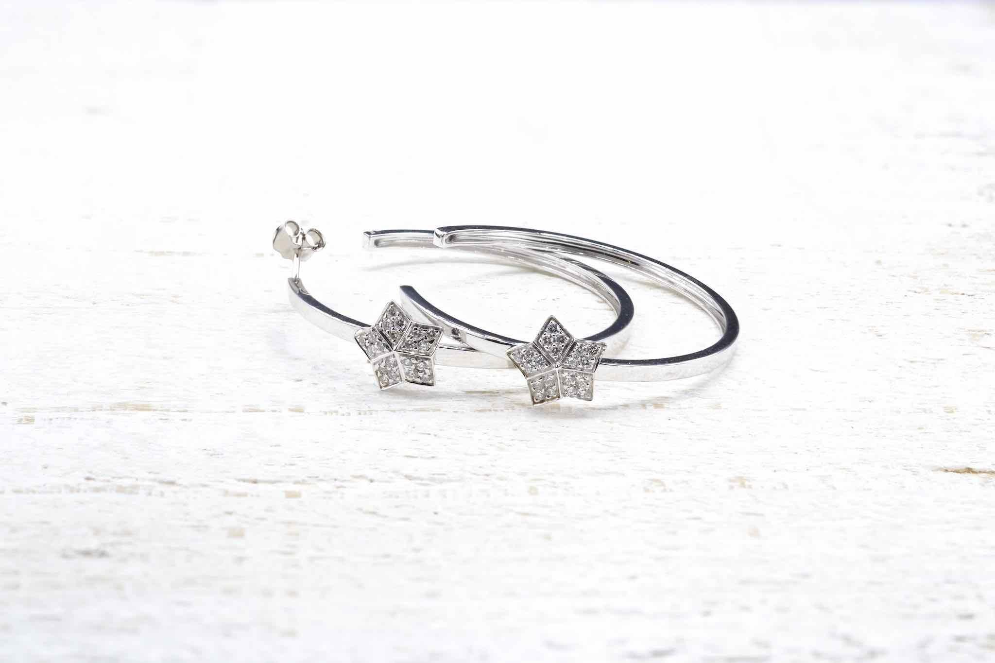 Créoles vintage diamants