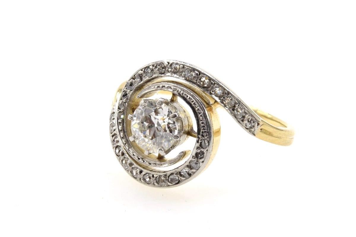 Bague 1920 tourbillon diamants