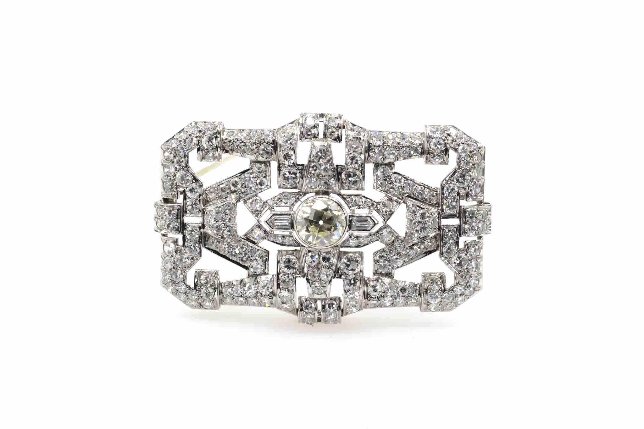 Broche Art Déco 1930 diamants