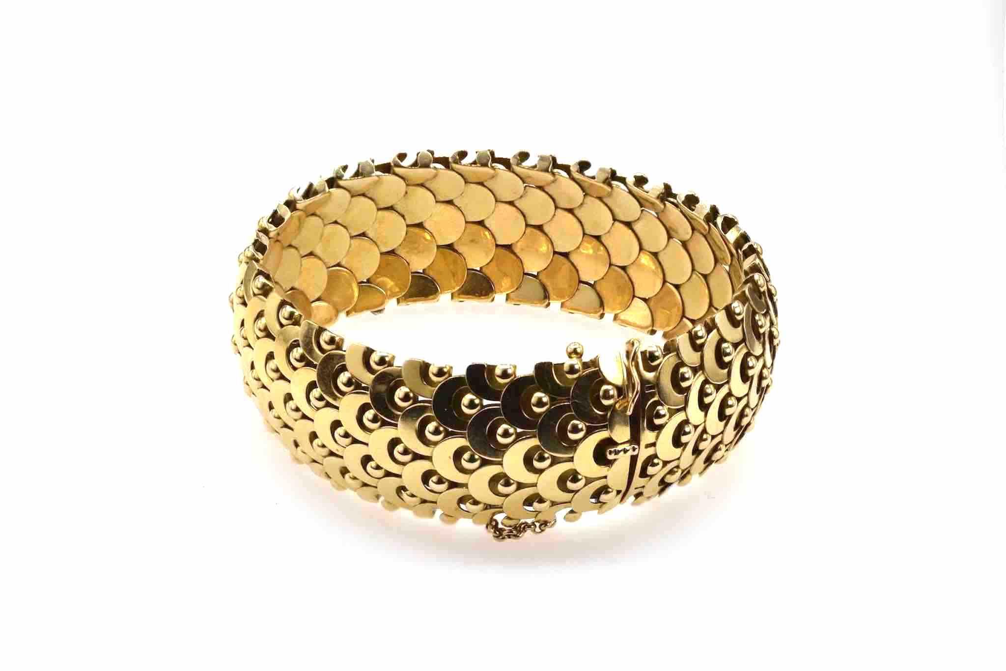 bracelet en or jaune 18k