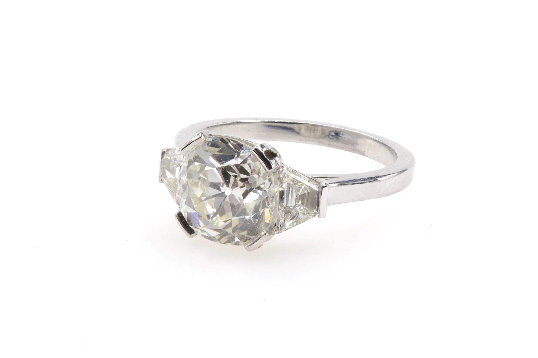 Bague vintage diamant coussin