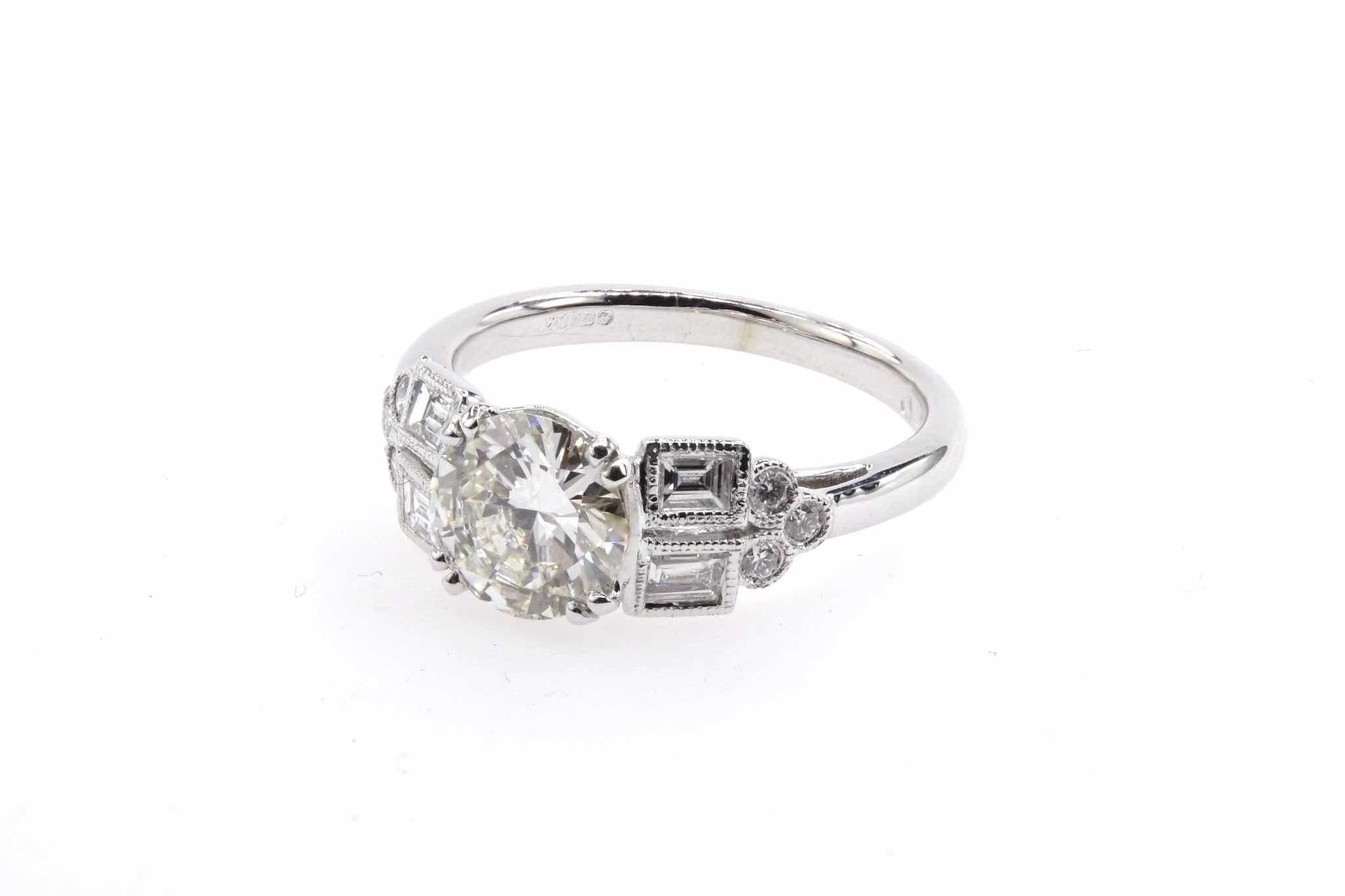bague diamants ancienne