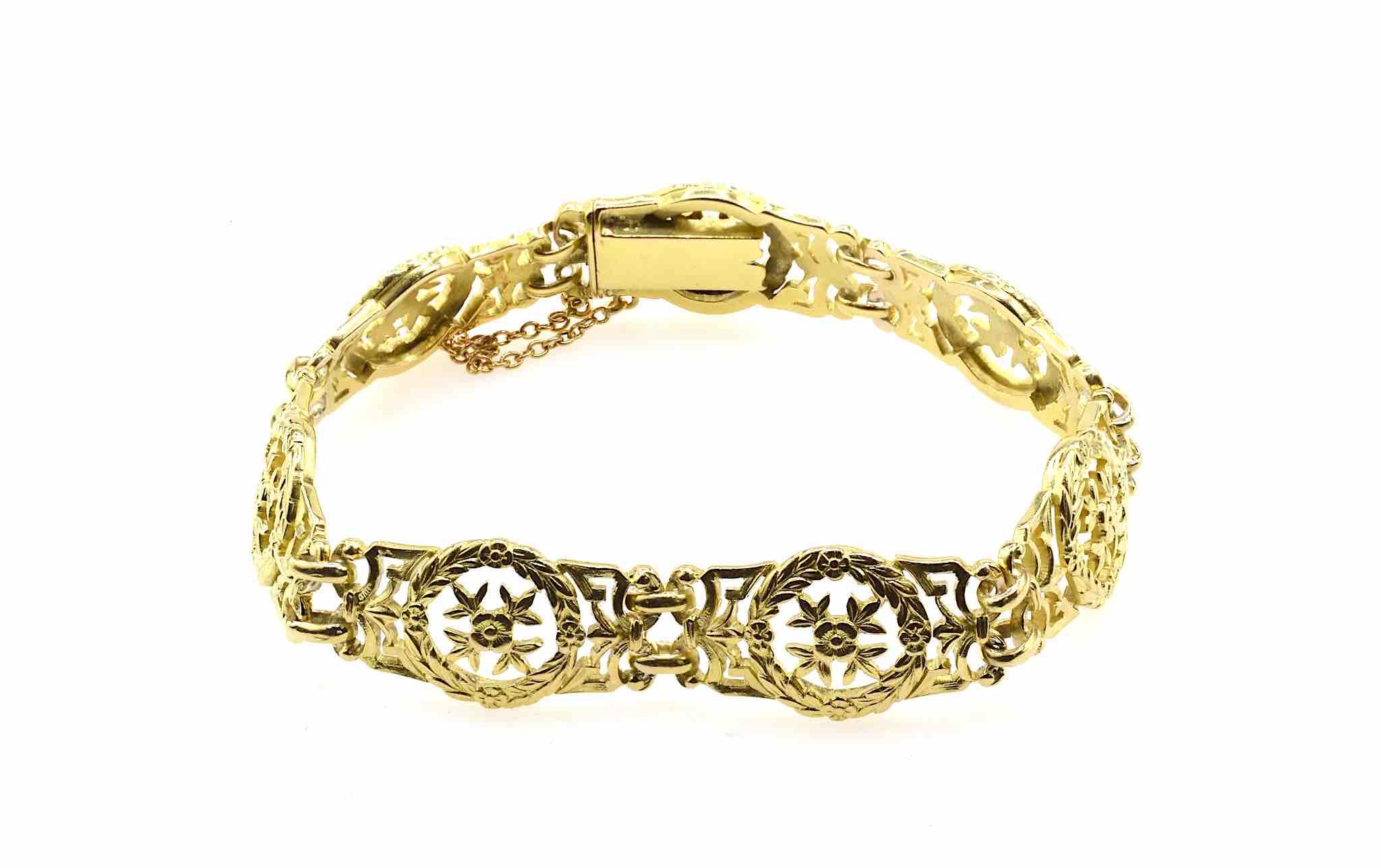 bracelet Napoléon III en or jaune 18k