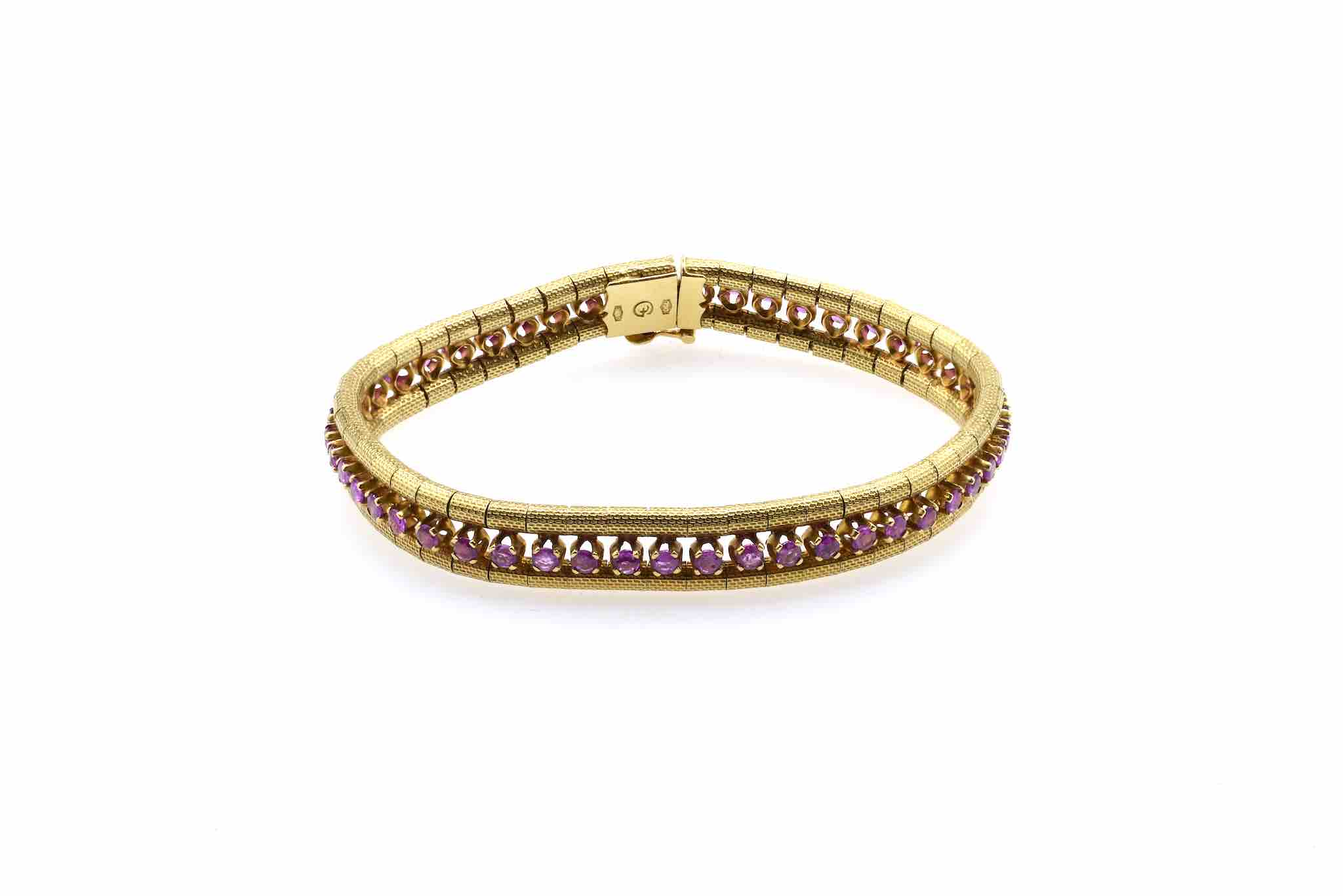 bracelet ancien rubis en or jaune 18k