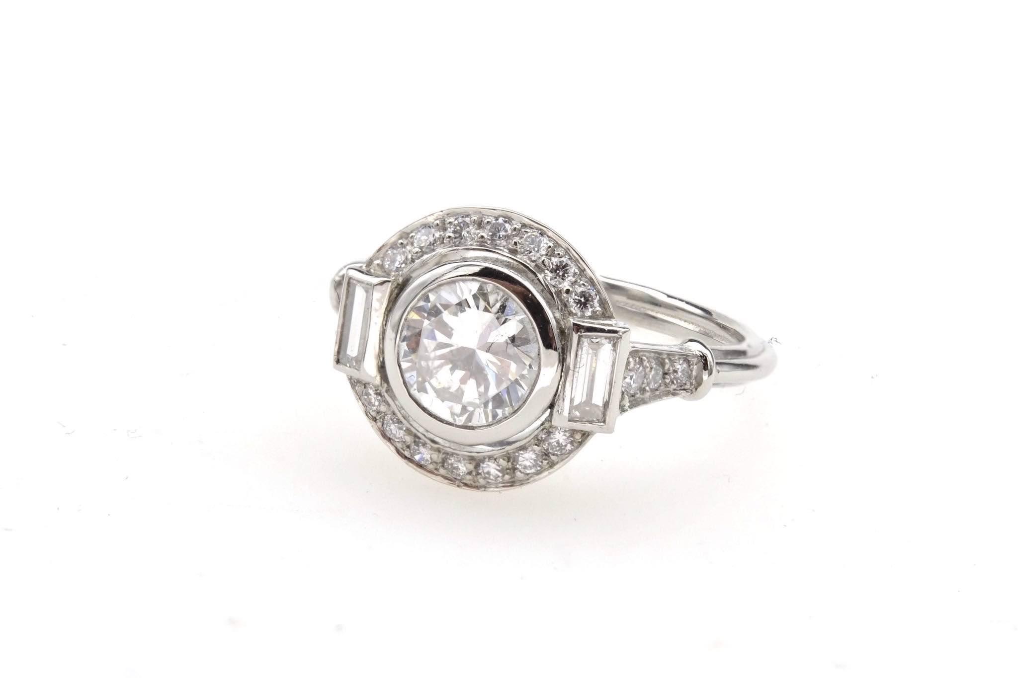 Bague vintage diamants Art Déco