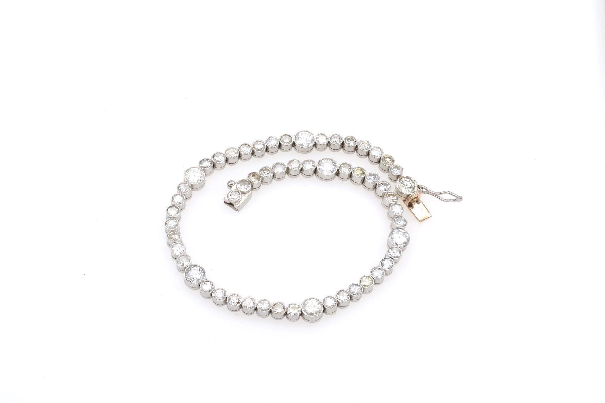 Bracelet vintage riviere de diamants