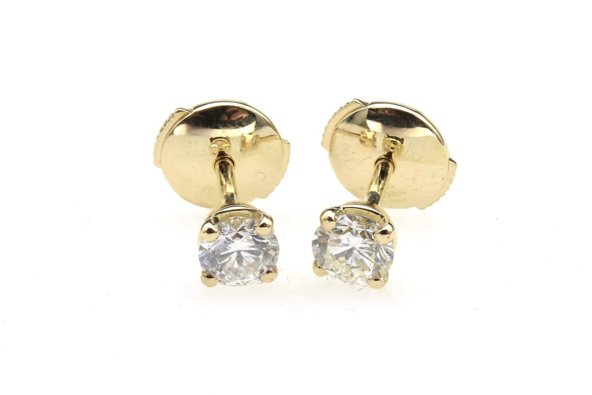 boucles puces d'oreilles en or