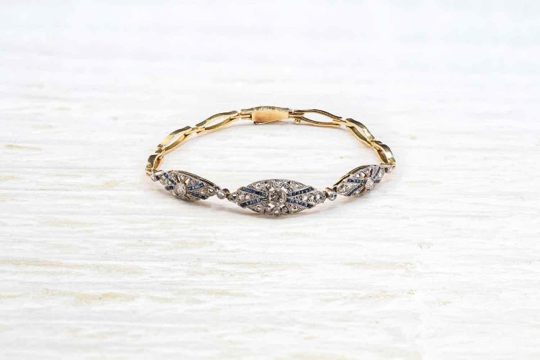 bracelet diamants et saphirs