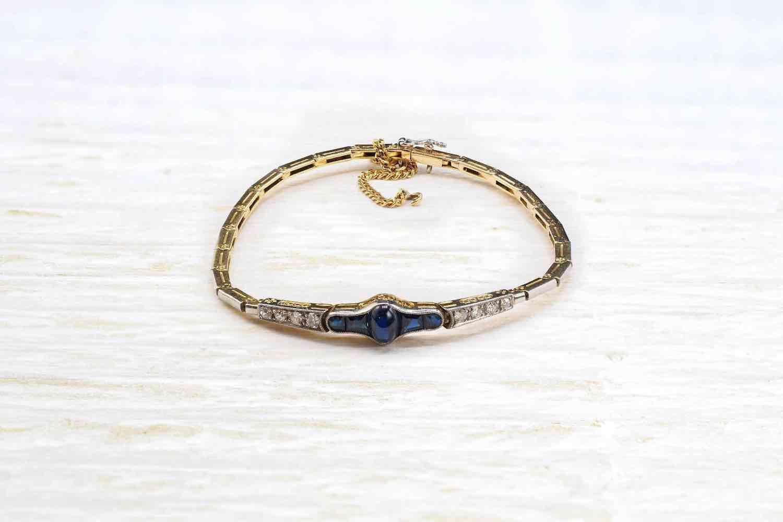 rachat bracelet saphir en or