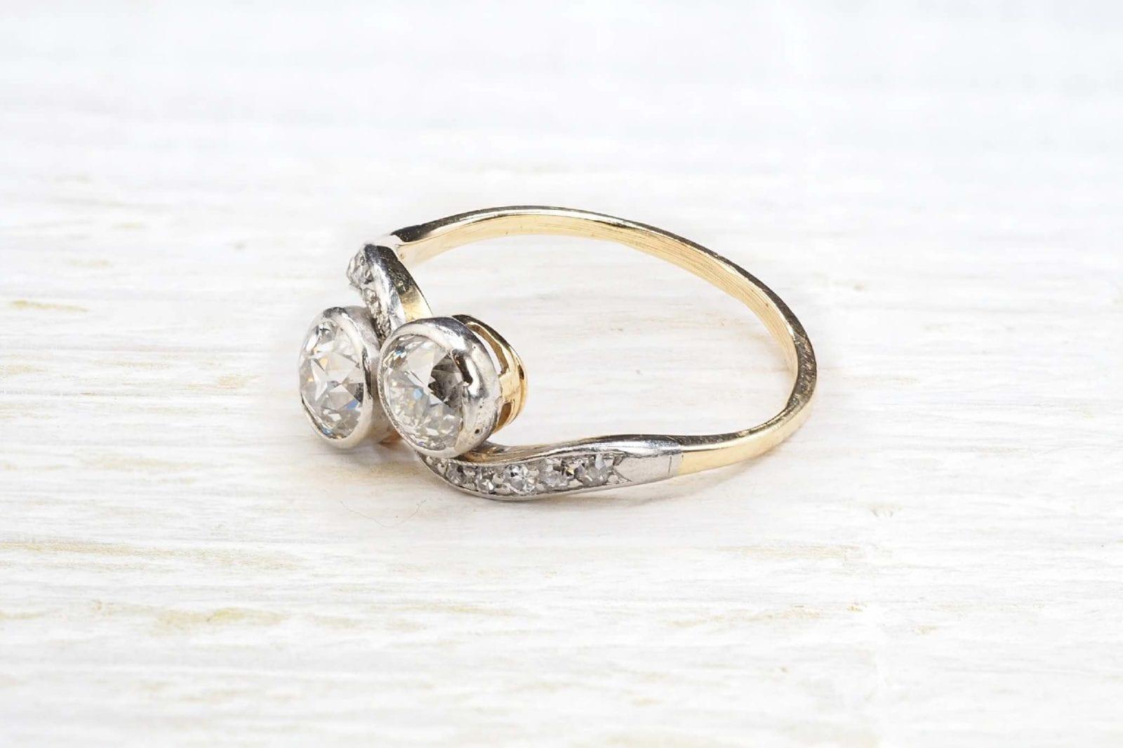 bague ancienne toi et moi diamants