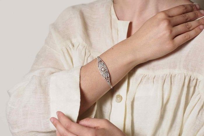 Bracelet Art-déco perle diamant