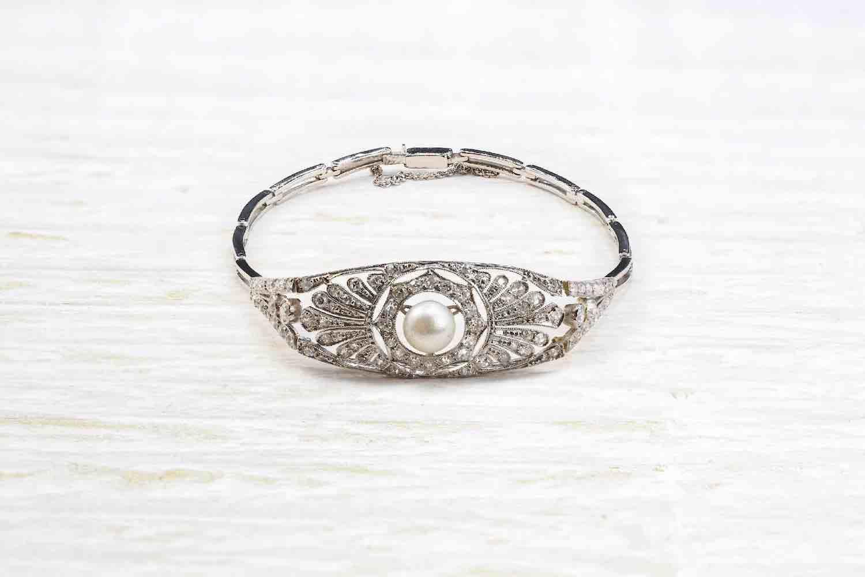 bracelet perle et diamants