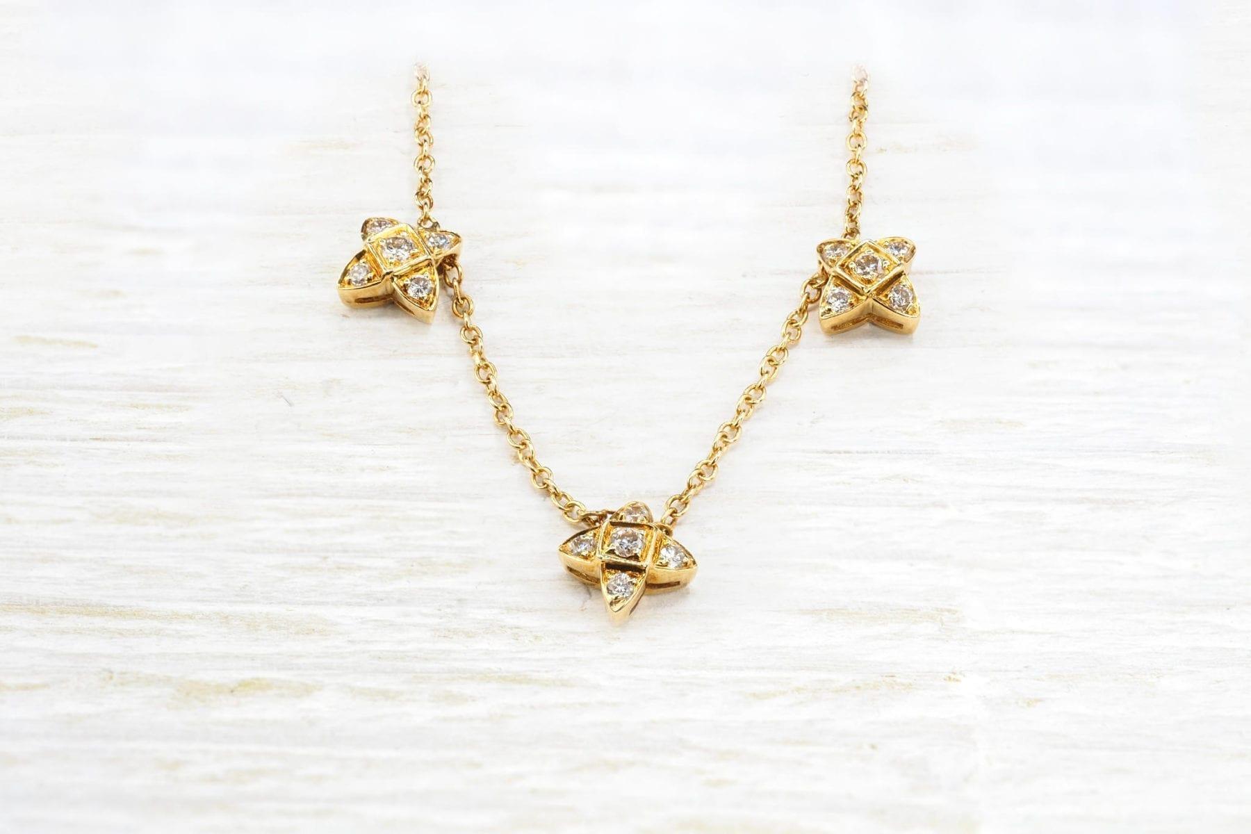 collier signé repossi diamants et or jaune 18k