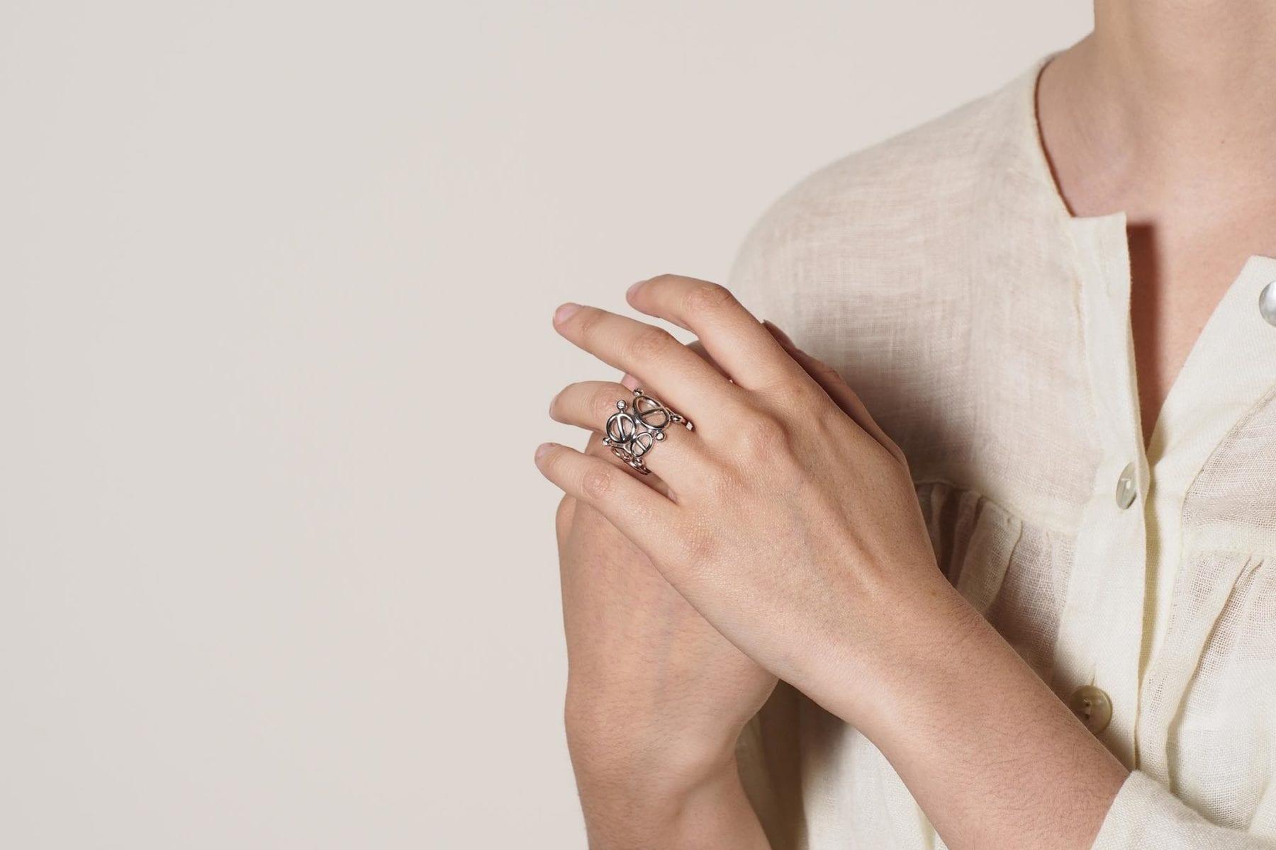 bague Hermès diamantes