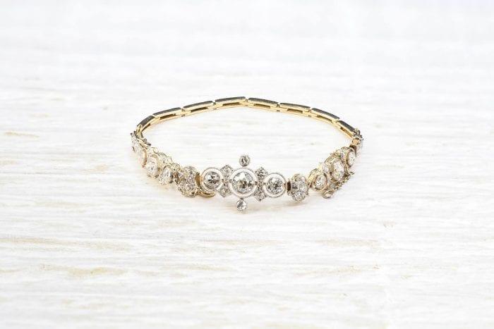 bracelet diamants Art Déco