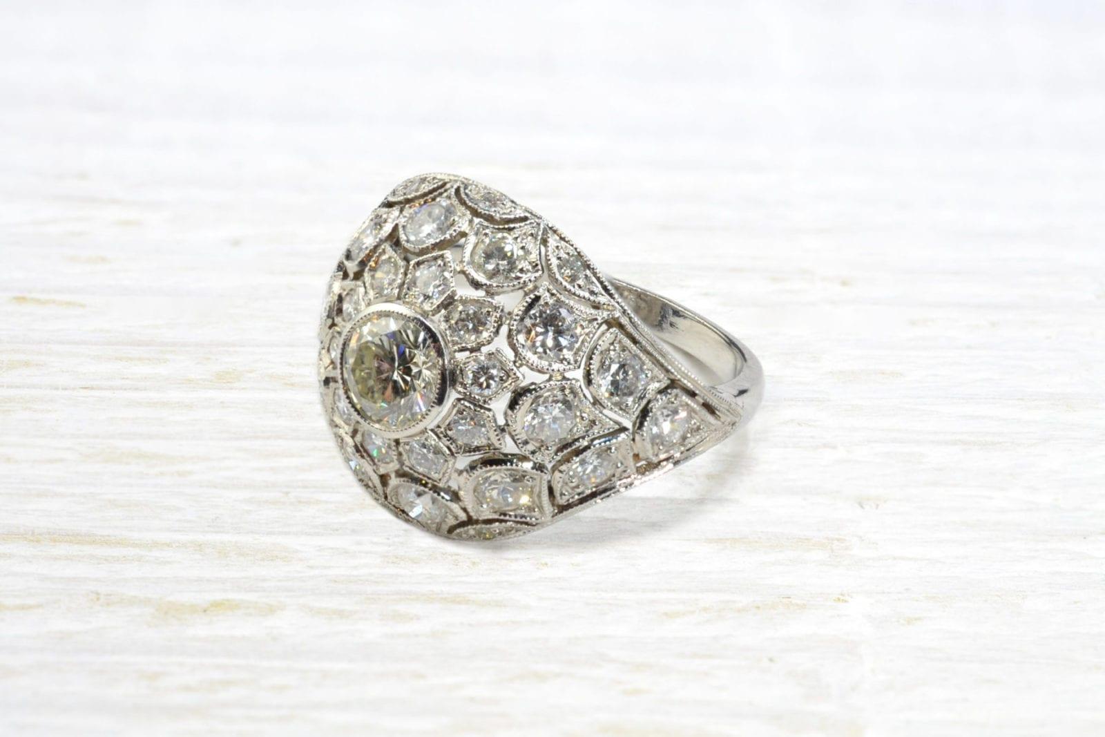 bague dome diamants
