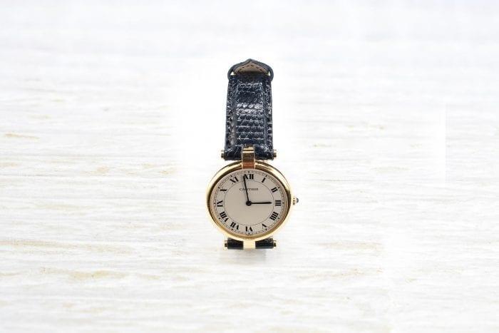 Montre Cartier modèle Vendôme en or jaune 18k