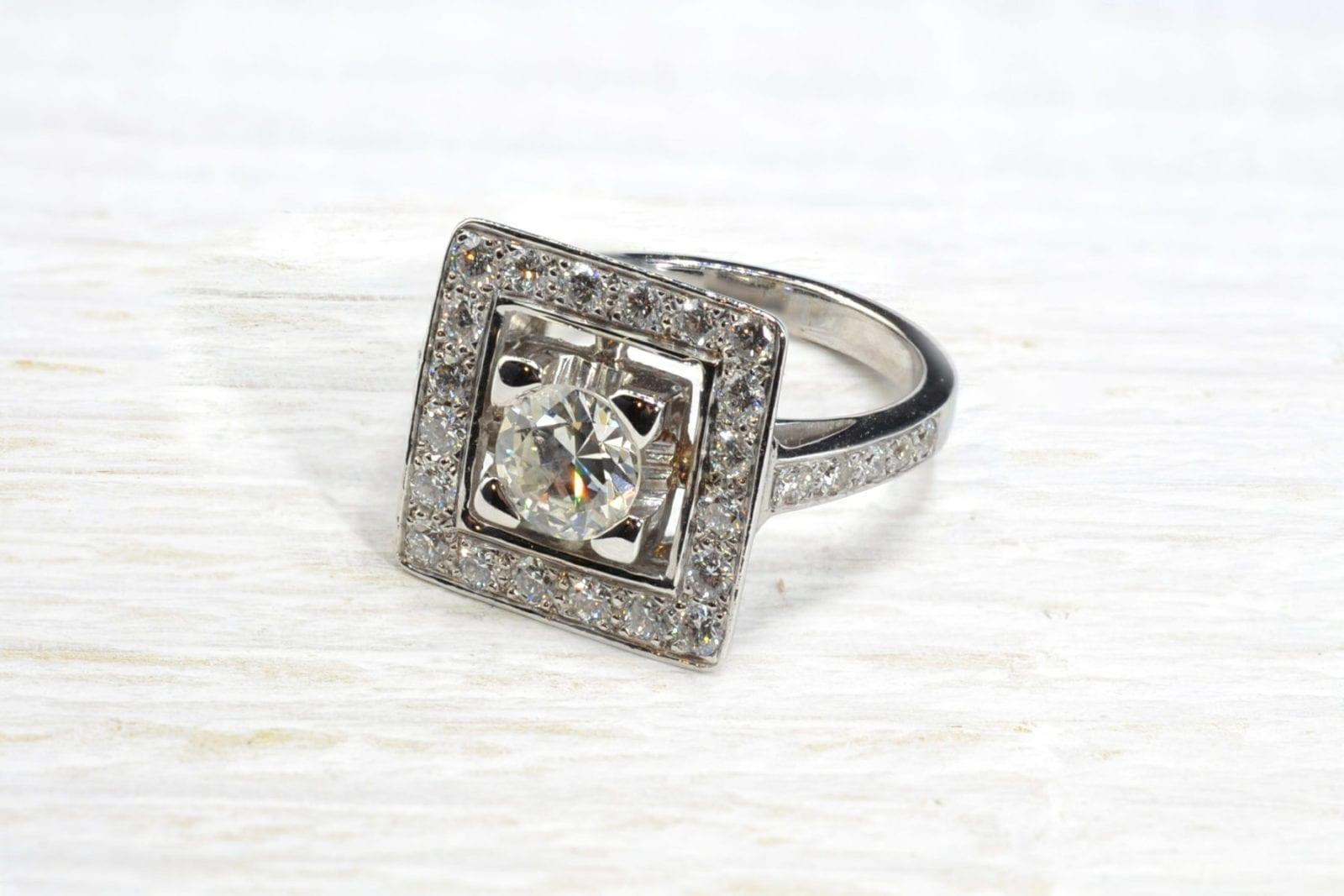 bague ancienne diamants