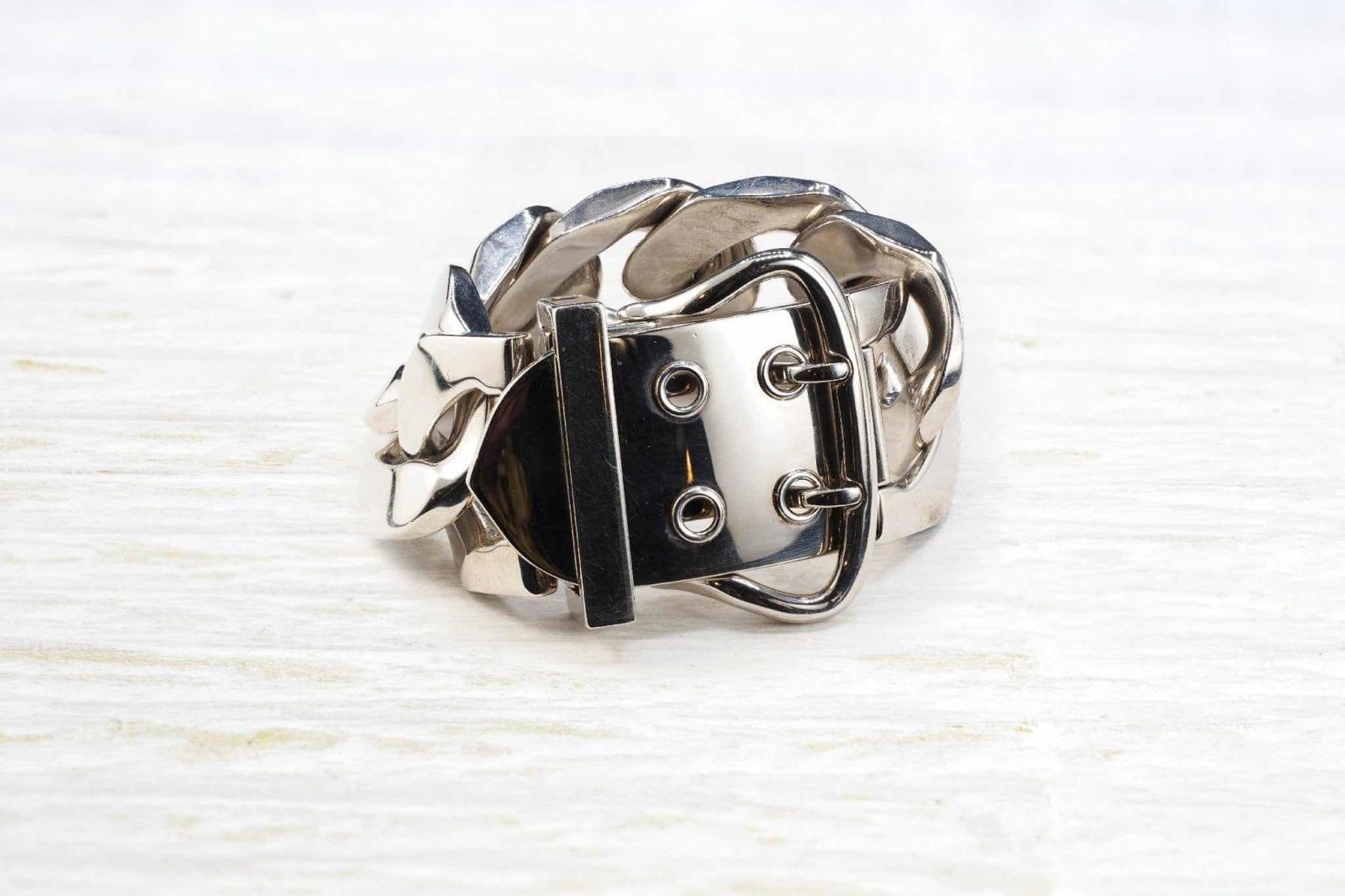 bracelet Hermes ceinture en argent