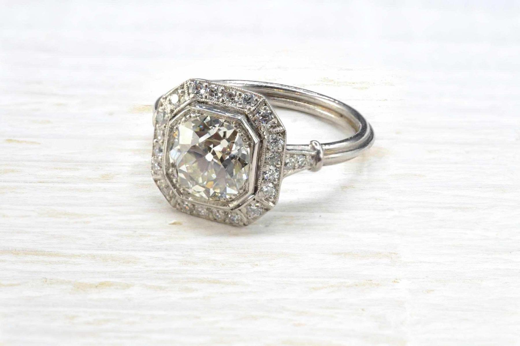 Bague diamant central