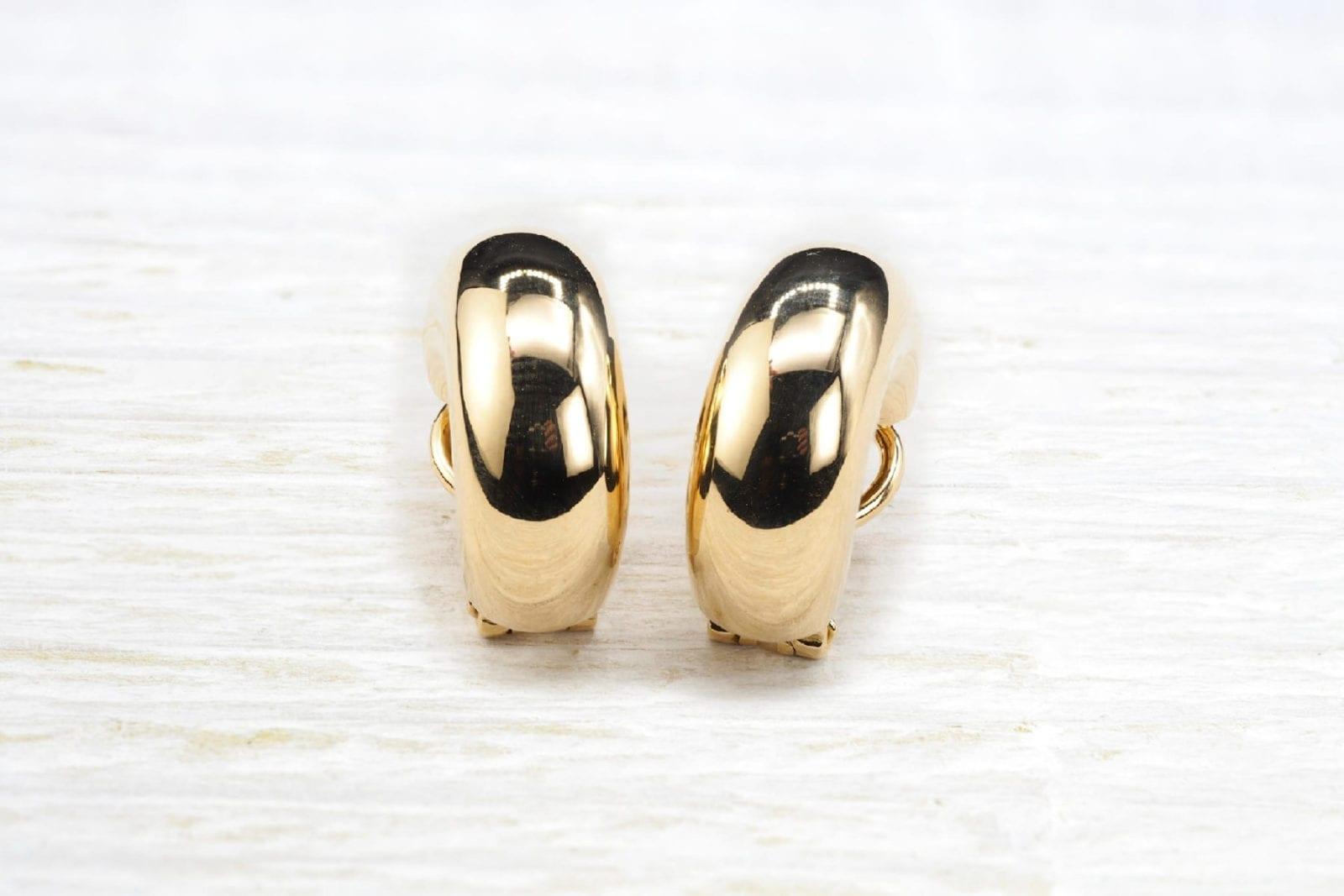 Boucles d'oreilles en or jaune 18k