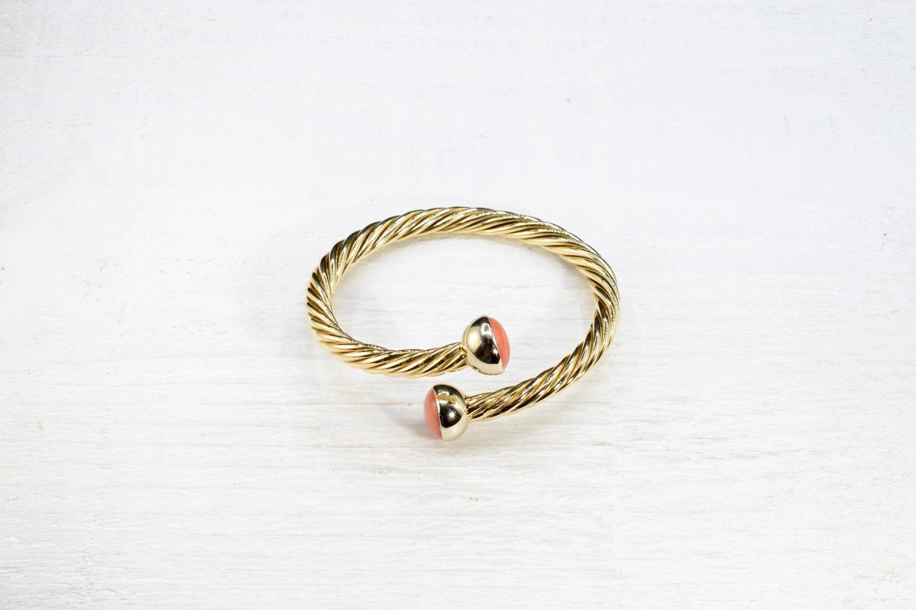bracelet corail or