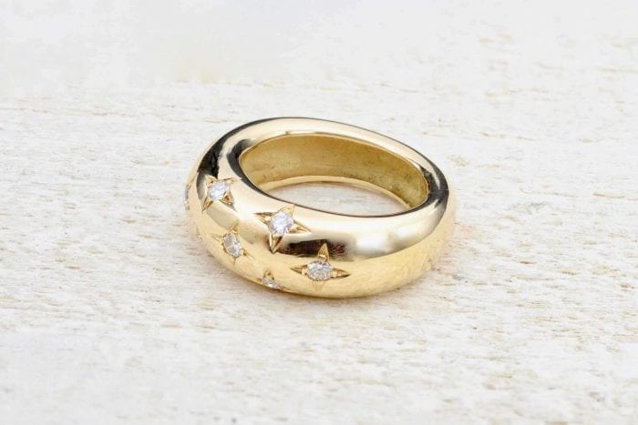 Bague Chaumet diamants en or jaune 18k