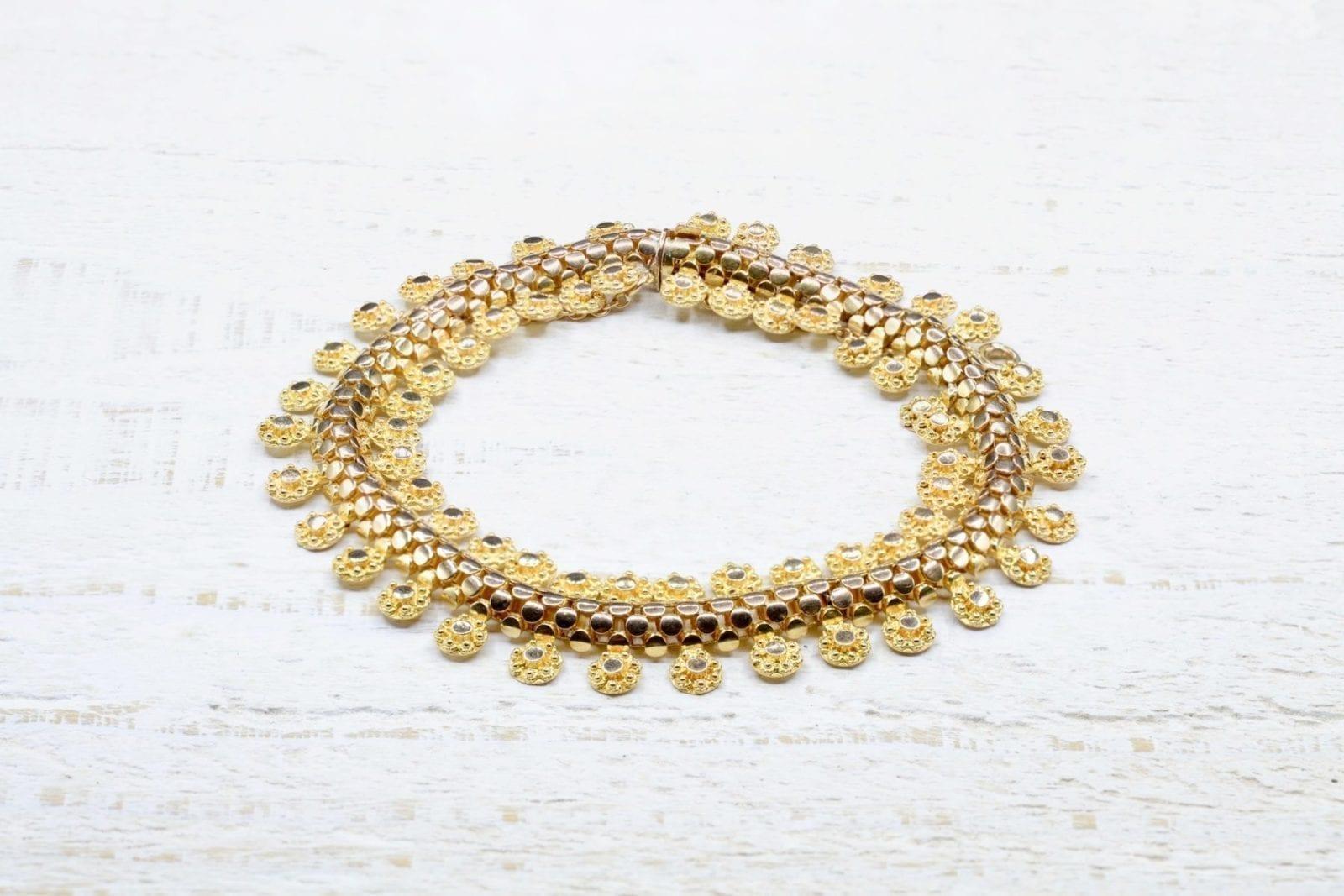 Bracelet vintage en or jaune 18k