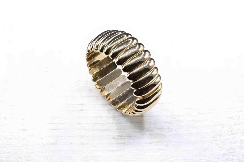 bracelet or jaune 18k années 1950