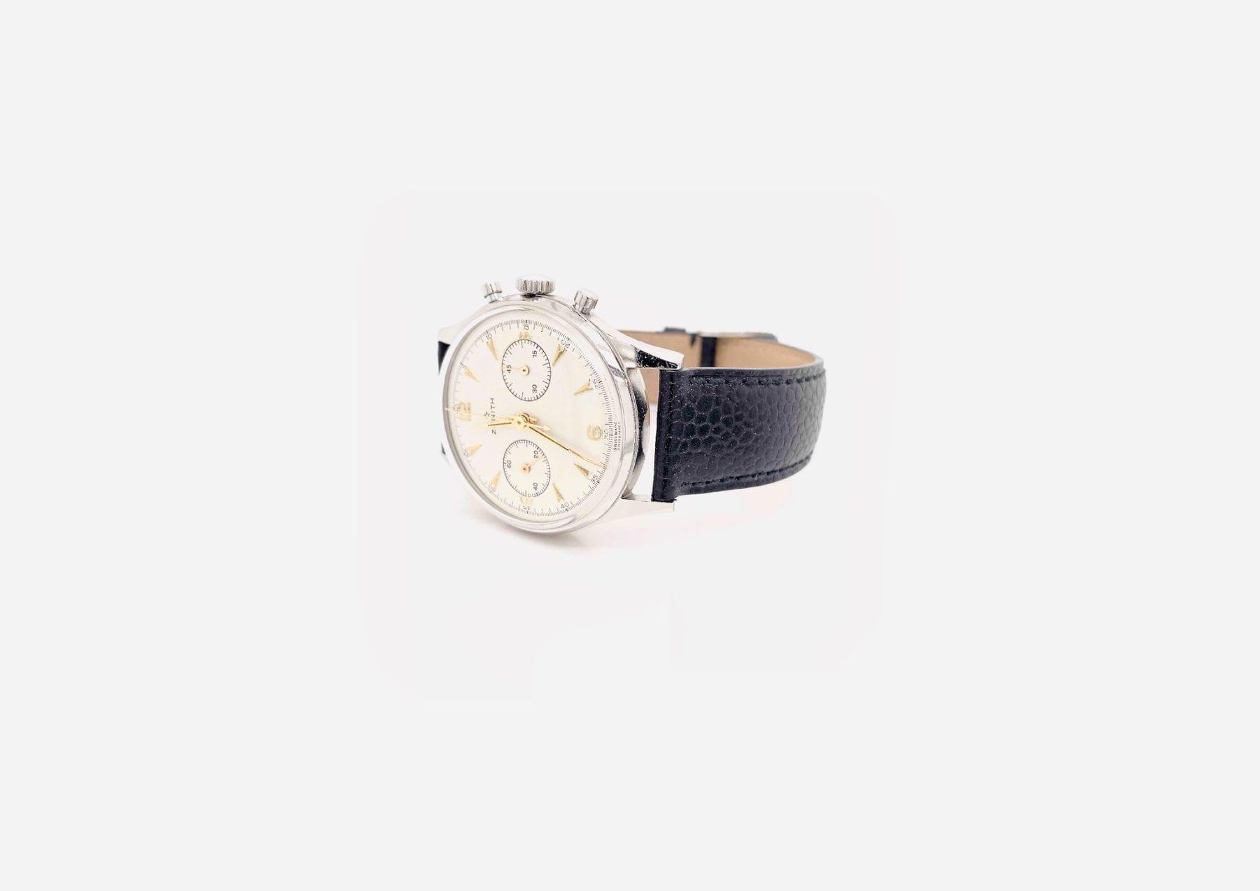 Montre Zenith Cal.136 chrono bracelet cuir