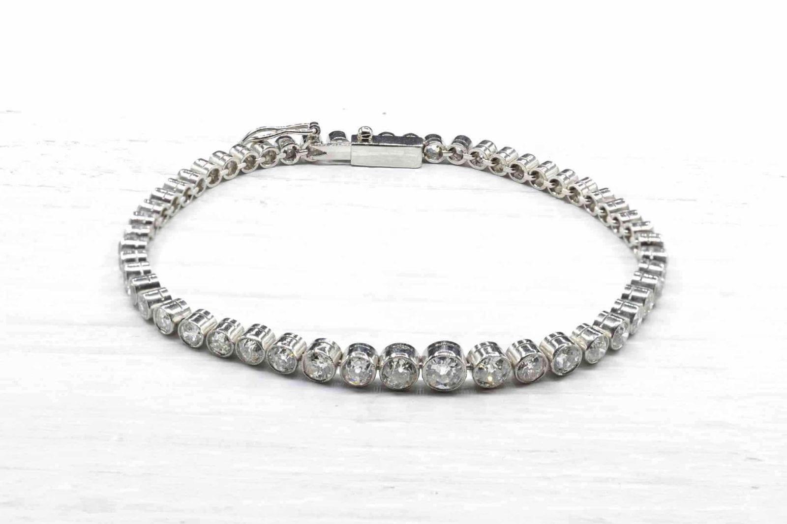 Bracelet diamants en platine