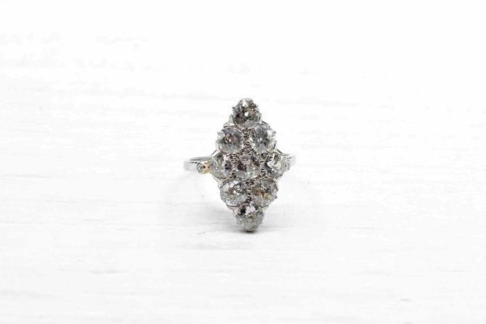 bague diamants marquise occasion vintage