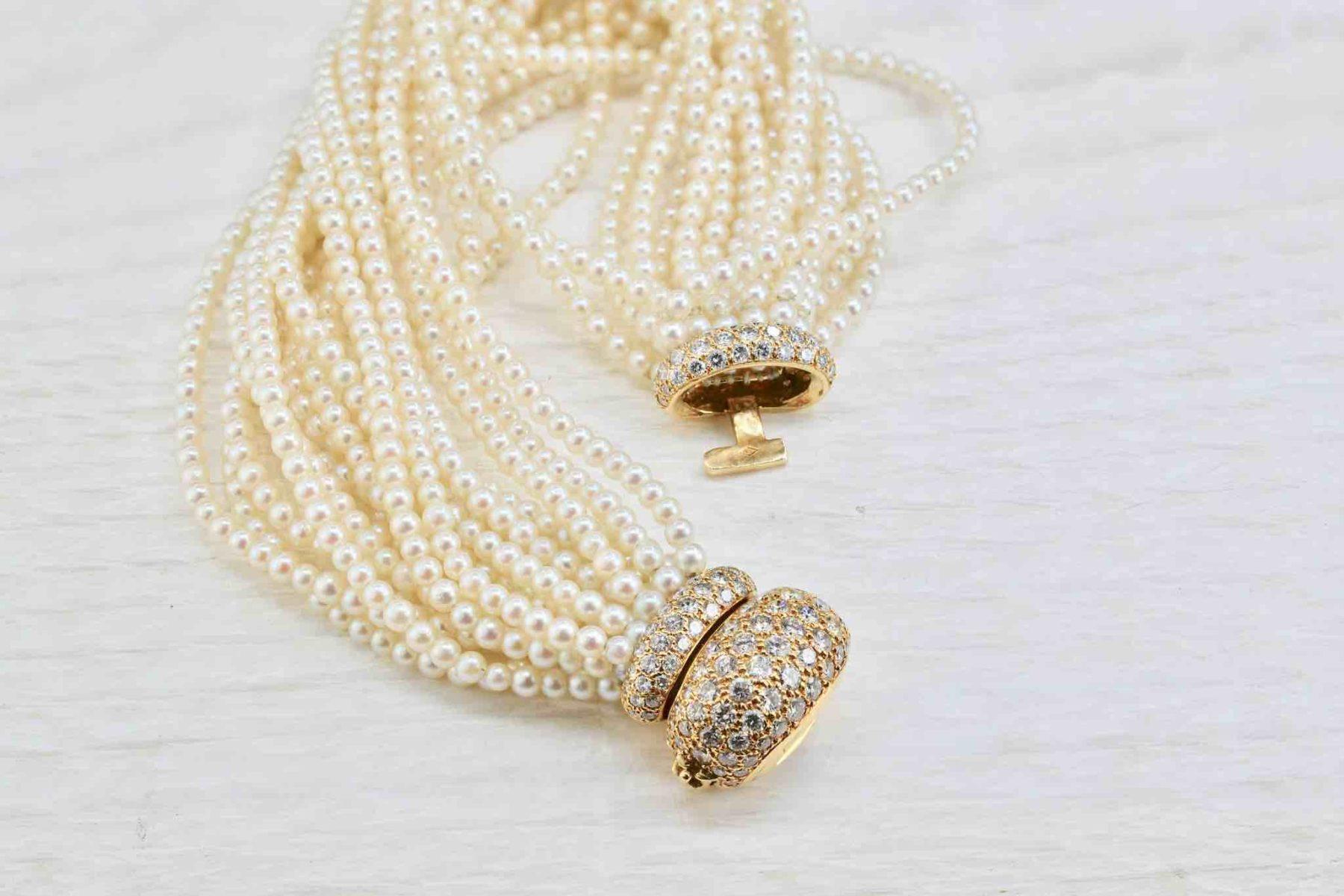 bracelet OJ Perrin perles et diamants