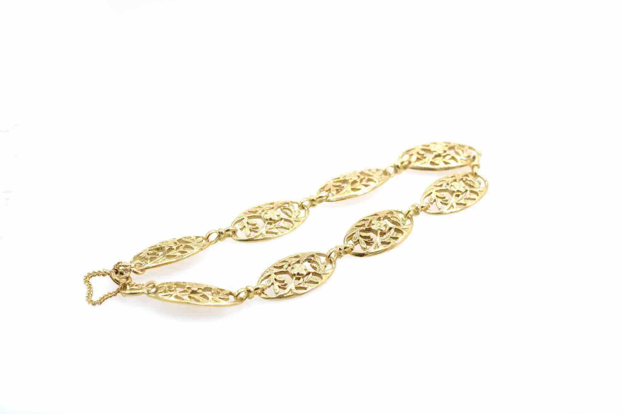 bracelet maille vintage en or jaune 18k