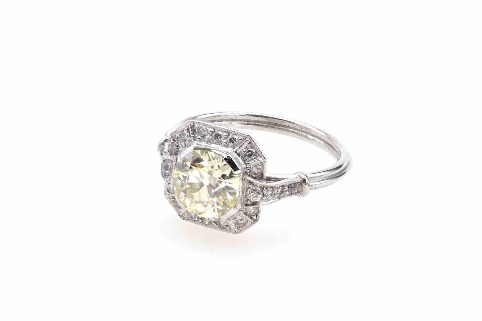 Bague diamant de 1,39 carats en platine