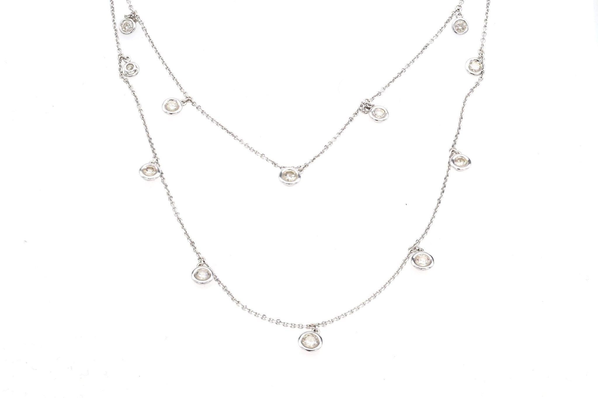 Collier Messika diamants en or blanc 18k