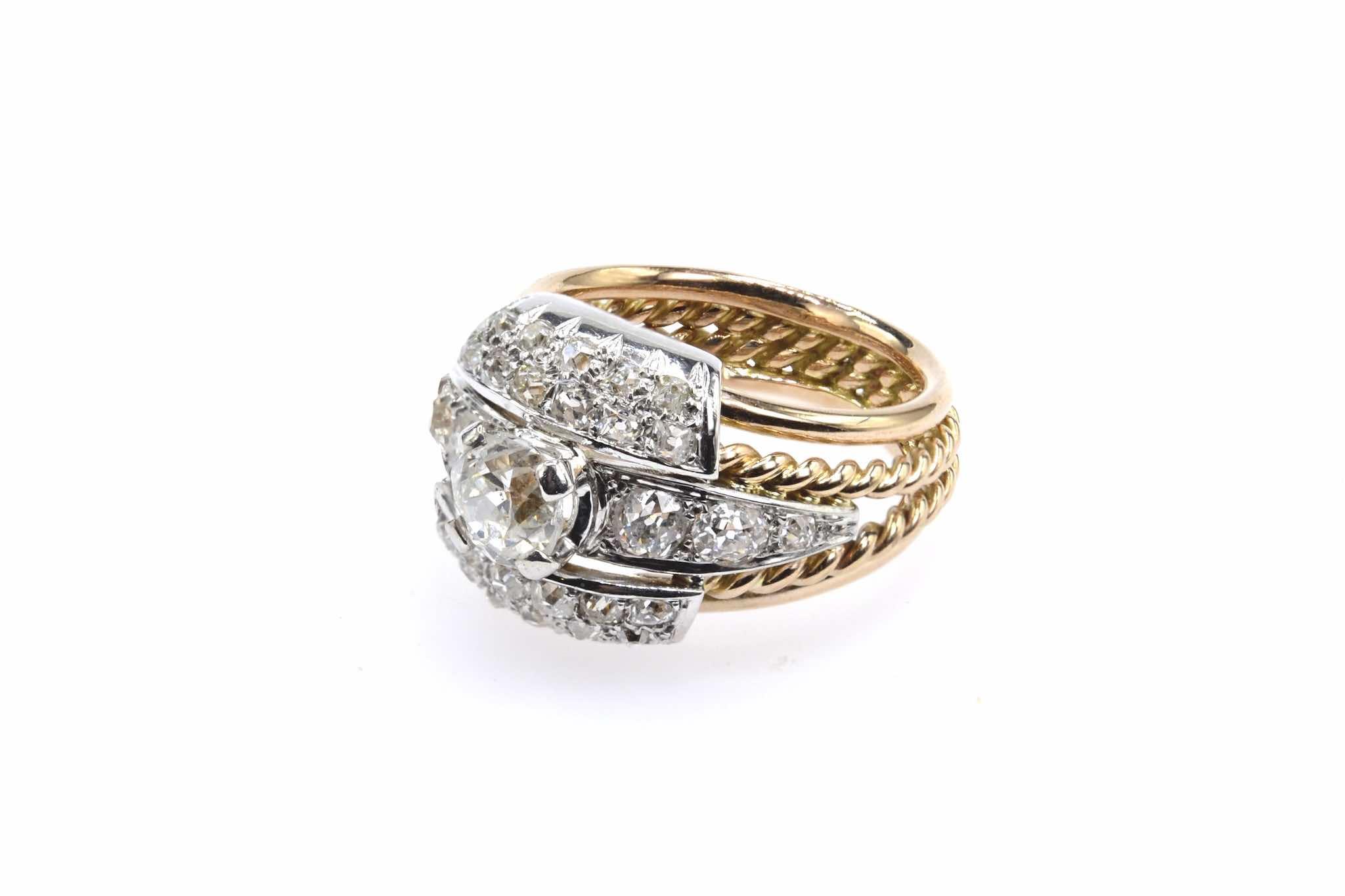 bague ancienn 1950 diamants