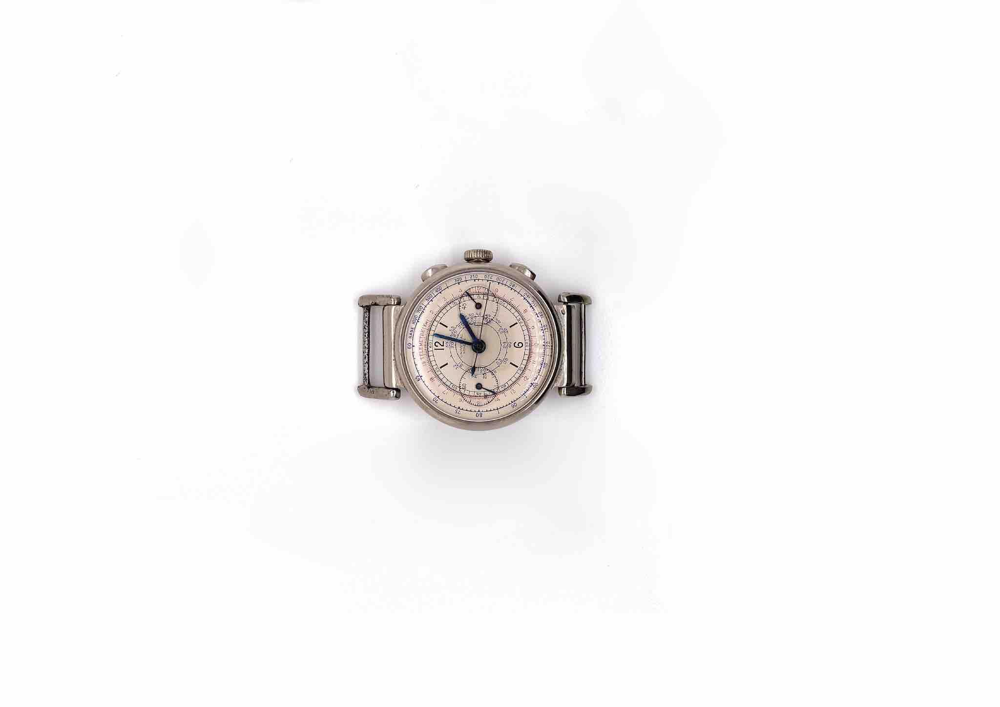 montre Montre Universal Genève Chrono bracelet beige