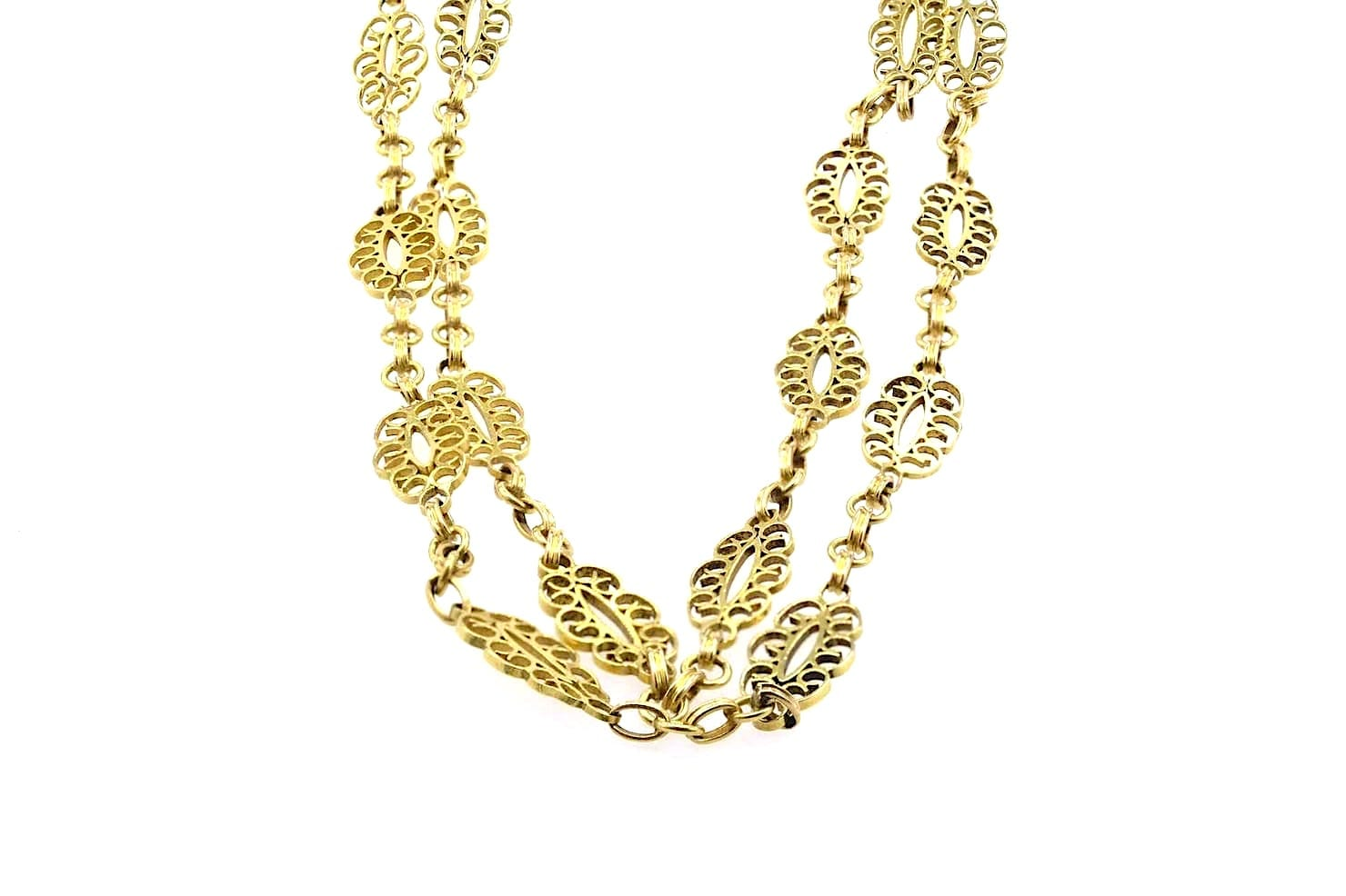 collier ancien en or jaune 18k