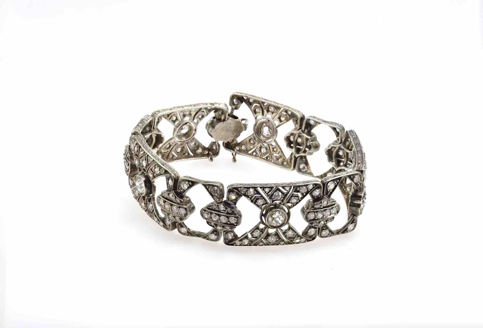 Bracelet diamants 19e