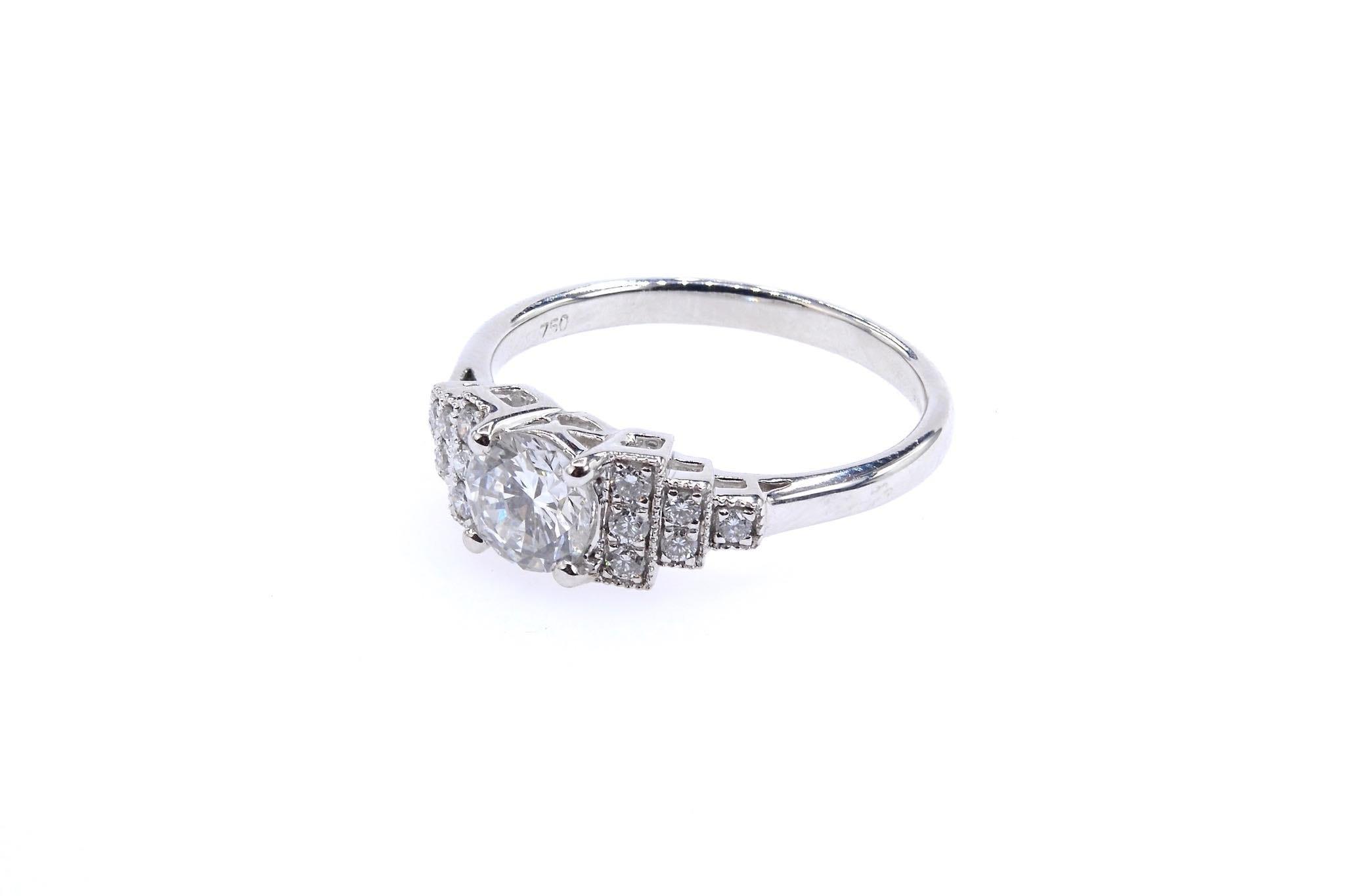 Bague diamant de style vintage Art Déco