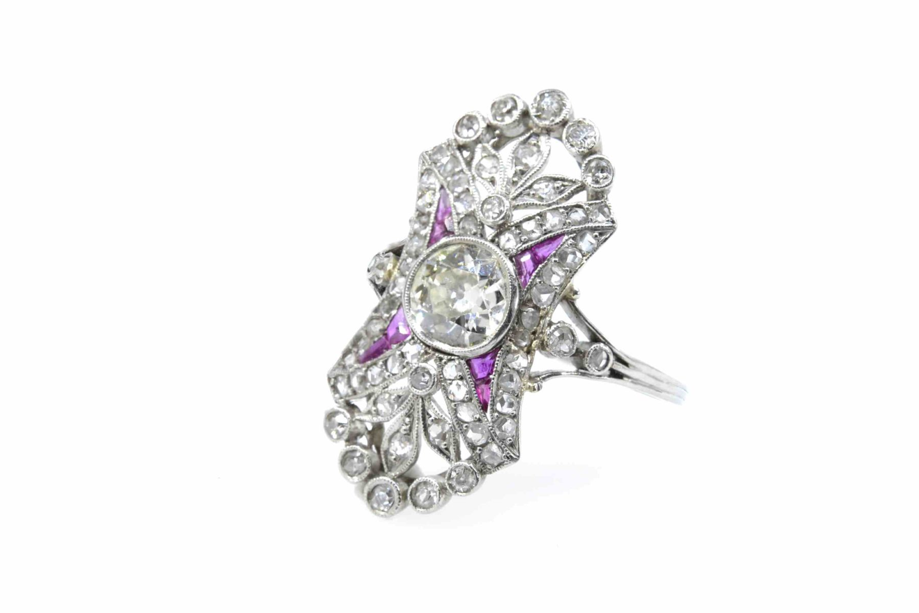 bague diamants rubis