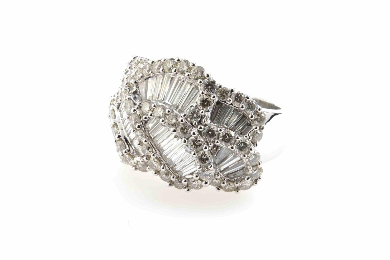 bague diamants baguette 22167