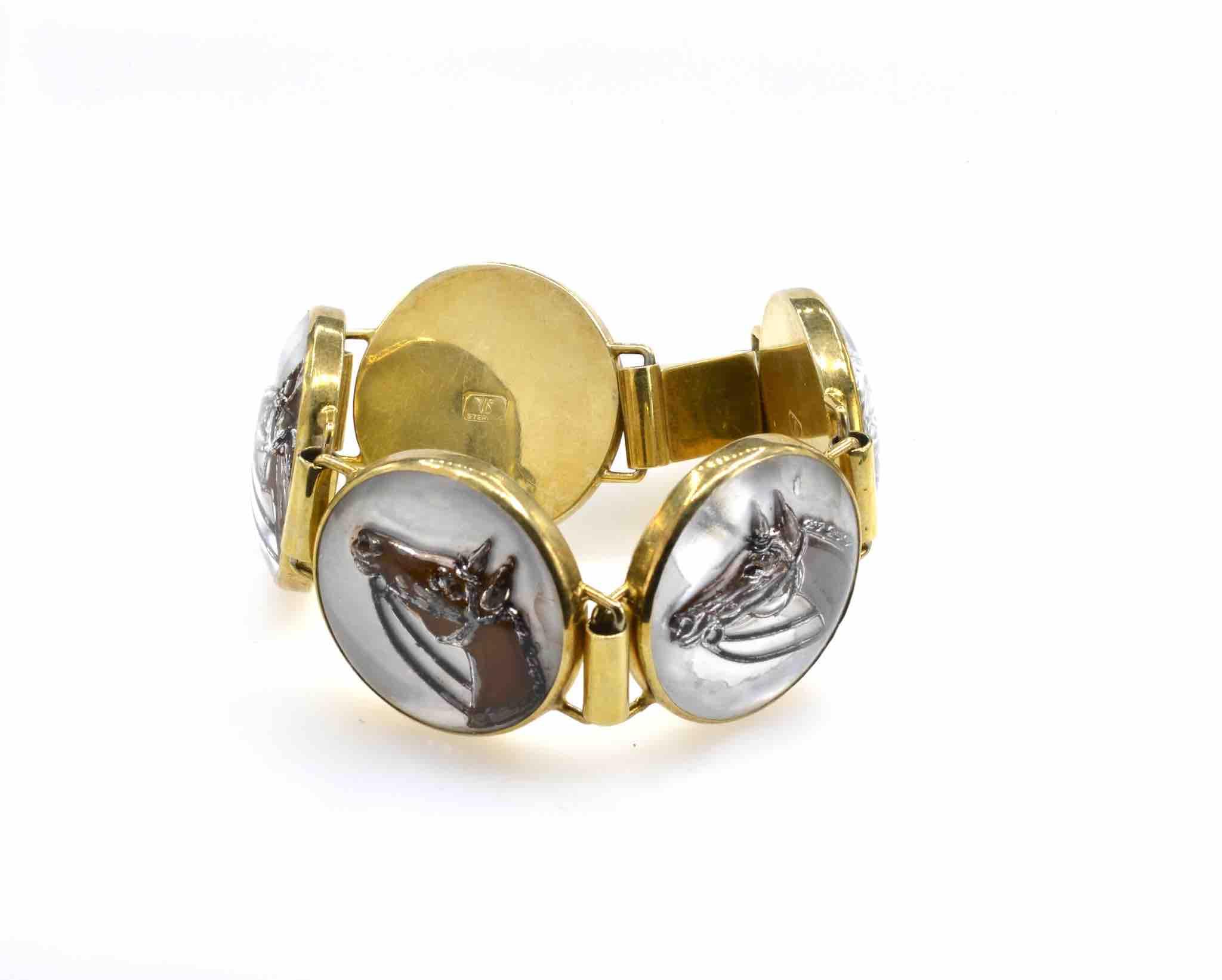 bracelet ancien motifs cheval