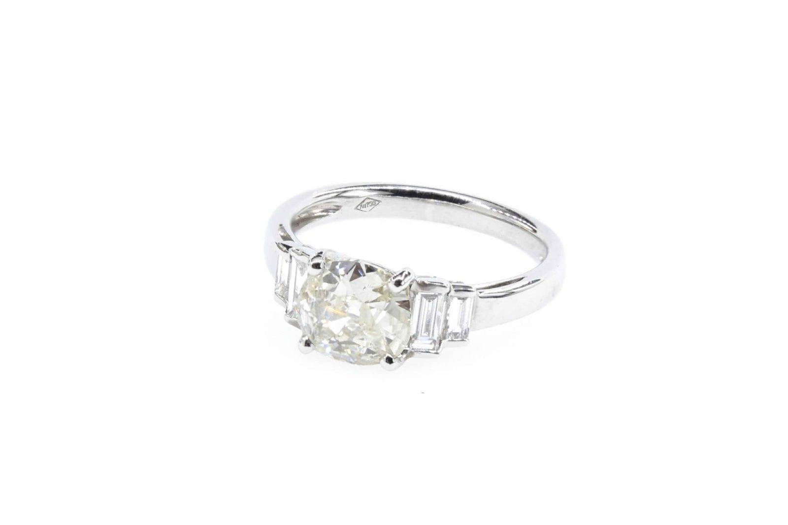Bague diamant style Art Déco